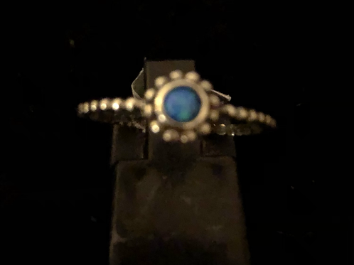 Blue stone set ring