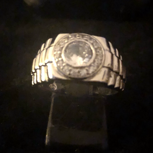 Gents stone set ring