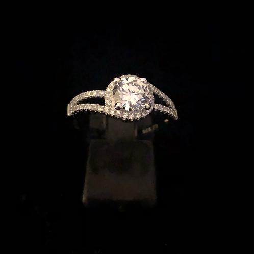 Stone set cluster ring