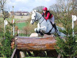 Freddie Fox with event rider Gillian Higgins at Gatcombe Park Intermediate
