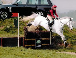 Gillian Higgins, event rider with Freddie Fox at Gatcombe Park