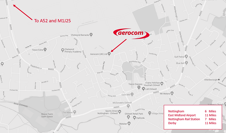 aerocom uk map in nottingham