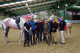 Gillian HIggins and the Horses Inside Out team, on a day filming for BBC Countryfile