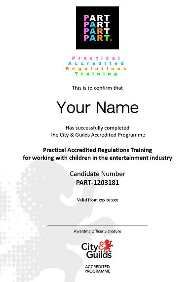PART - City and Guilds Certificate