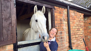 Gillian Higgins, founder of Horses Inside Out with her horse Freddie Fox