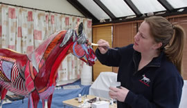 painted horse by Gillian HIggins muscles