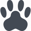 Pet Friendly Paw Print Logo