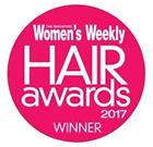 Logo of Women's Weekly Hair Awards 2017 where Naturia keratin treatment & cinderella treatment received accolades