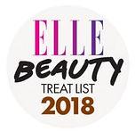 Logo of Elle Beauty Treatlist 2018 where Naturia keratin treatment & cinderella treatment received accolades