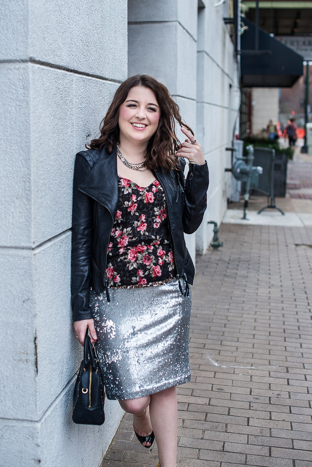 Houston Personal Stylist pairs floral and sequins