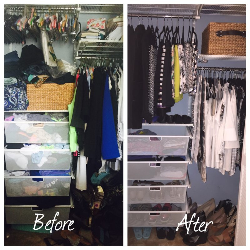 wardrobe stylist in houston, before and after of closet clean out