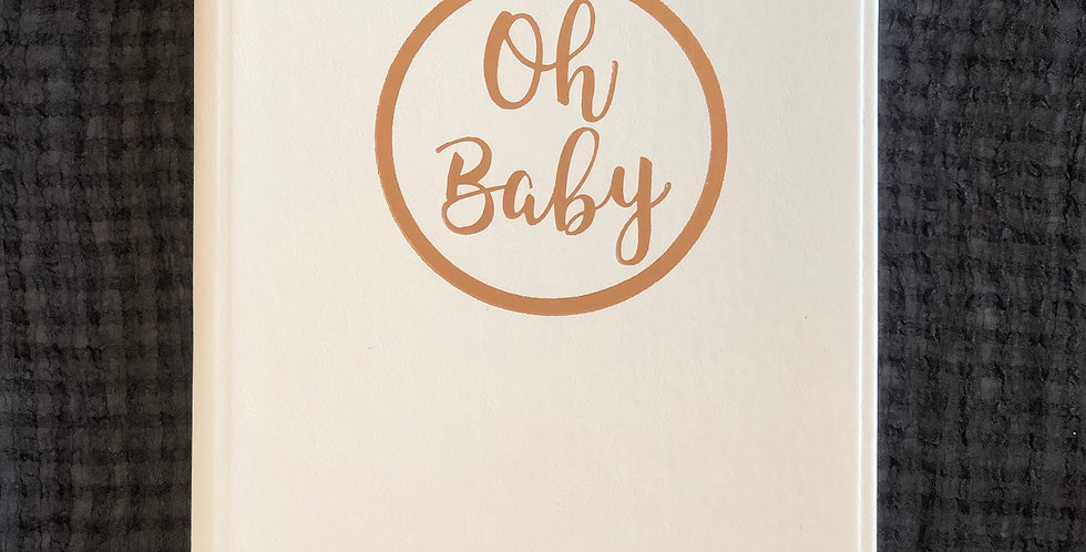 White and Rose Gold Baby Journal