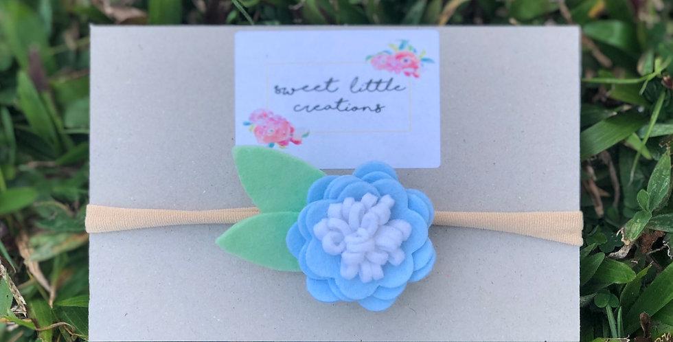 Blue Felt Flower