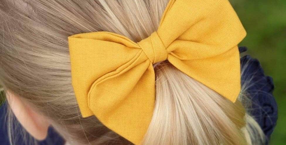 Mustard 'Allie' Bow