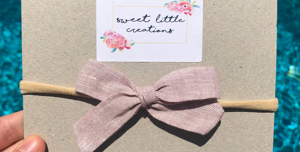 Dusty Pink 'Summer' Bow