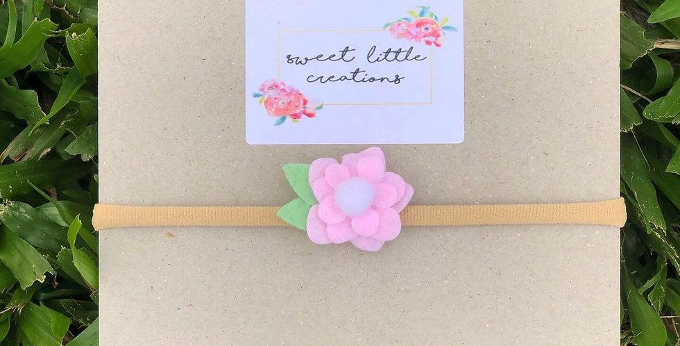 Small Soft Pink Felt Flower