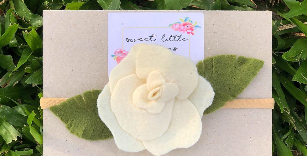 Cream Felt Flower