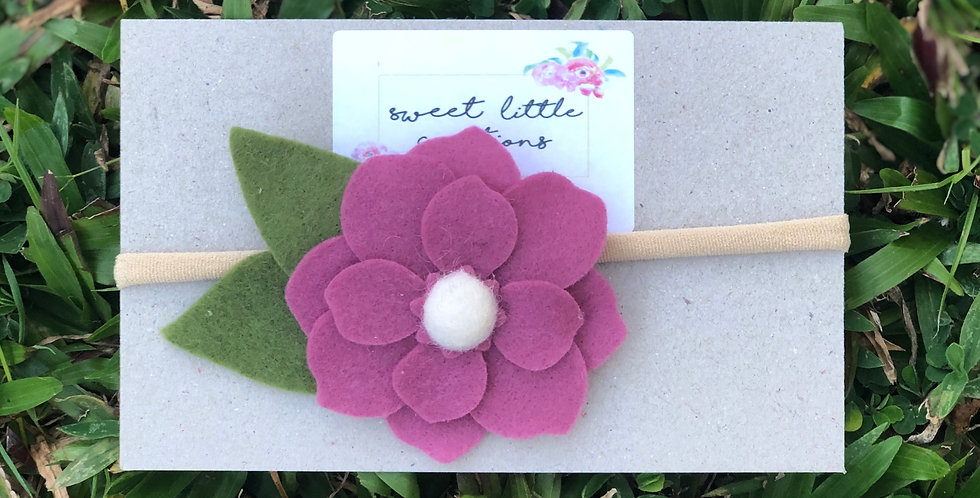 Purple Felt Flower