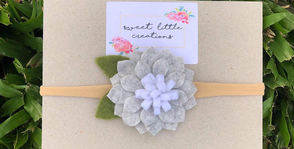 Grey Felt Flower