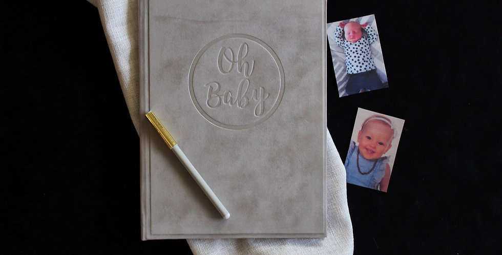 Champagne Suede Baby Journal