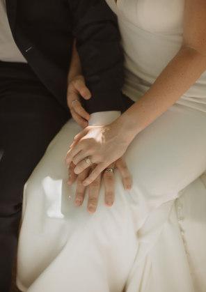 Bride and Groom post wedding photo shoot