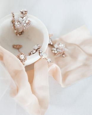 romantic wedding day jewelry