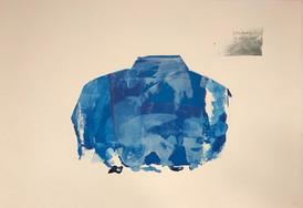 Ingun Glomnes Johansen / valgets kval / silketrykk / serie med variasjon # 3 av 10 / 70x100 cm / Kr  2000