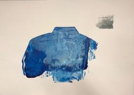 Ingun Glomnes Johansen / valgets kval / silketrykk / serie med variasjon # 2 av 10 / 70x100 cm / Kr  2000