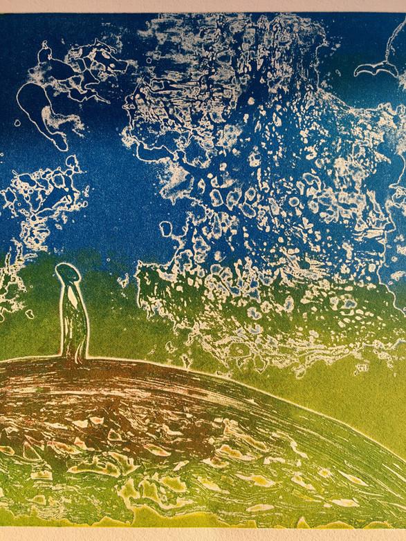 Astrid Brodtkorb / Einsam fugl / etsning / 25 x 29 cm / Kr 2400