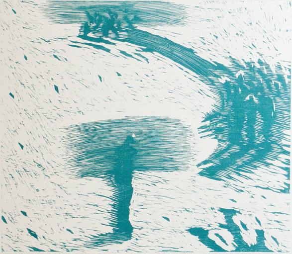 Louise Hedemark / Veien / tresnitt / 60 x 75 cm / kr 7.000