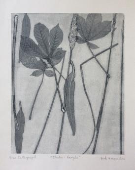 Merete Hansa / Uten tittel / Monoprint Collagraph / 32 x 40 cm / Pris etter avtale