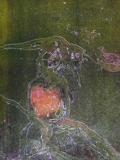 Astrid Brodtkorb / Hjerte /. Fargeetsning / 26 x 30 cm /  kr 2100
