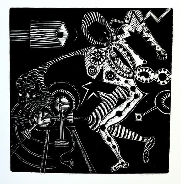 Risto Holopainen / Projektion/ 44 x 44 cm / Tresnitt/ Kr 2000