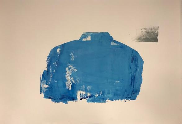 Ingun Glomnes Johansen / valgets kval / silketrykk / serie med variasjon # 4 av 10 / 70x100 cm / Kr  2000