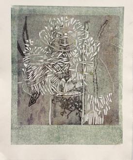 Merete Hansa / Uten tittel / 26 x 33 cm / bearbeidet kollografi, monotypi / kr 2.500