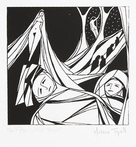 Helene Fjell / Hvit Brud / silketrykk / 13 x 13 cm / kr 800