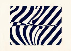 Risto Holopainen / Vågor / Linosnitt / 15 x 20 cm, upplaga 8 ex / Kr 800