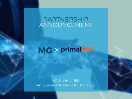 MG & PrimalRES Announce Strategic Partnership