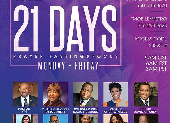 21 Days Prayer Fasting & Focus - Barbara Calloway Ministries