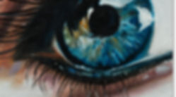 Pixels and Paint, Oils on canvas Eye close-up