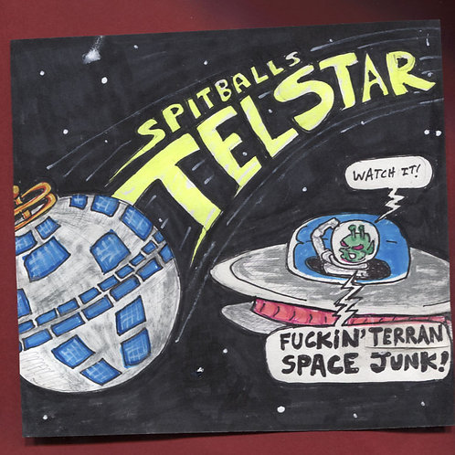 "Spitballs: Telstar 7"" Record with Original Art PS"