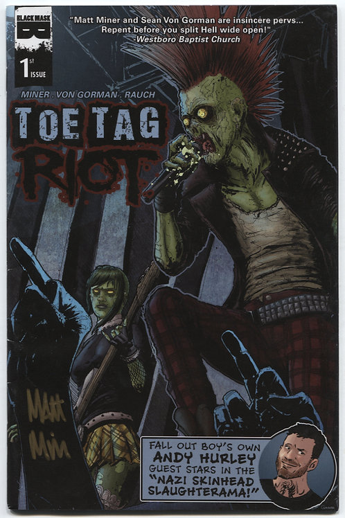Toe Tag Riot: Autographed Set of 4