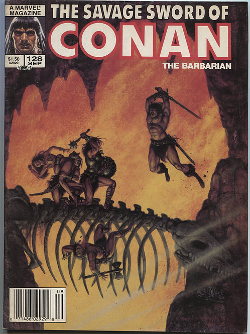 Combo:  HTC #1 with Savage Sword of Conan #128