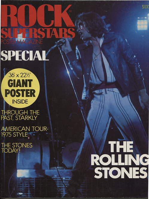 Rock Superstars Poster Magazine Rolling Stones Special