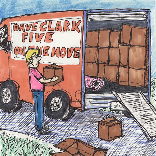 Dave Clark Five: On The Move Record with Original Art
