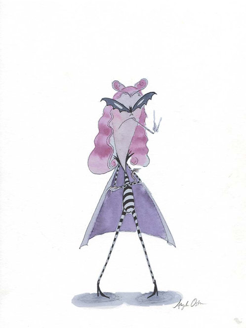 Angela Oster Little Vampire Girl Print #1