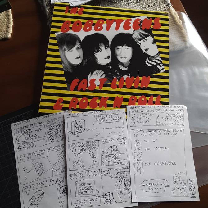 Record Comics #7: The Bobbyteens: Fast Livin' & Rock 'n Roll