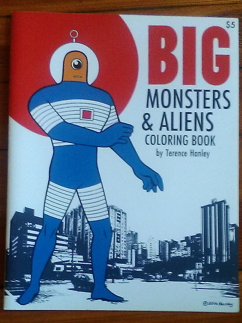 Big Monsters & Aliens Coloring book