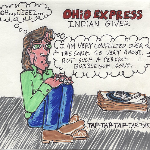 Ohio Express: Indian Giver Record with Original Art