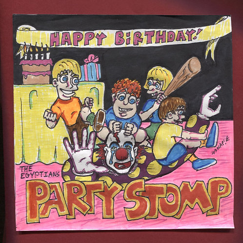 "The Egyptians: Party Stomp! 7"" Record with Original Art PS"